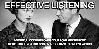Effective Listening meme